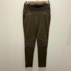 3/$25 Have Taupe Tan Moto Cotton Blend Leggings S